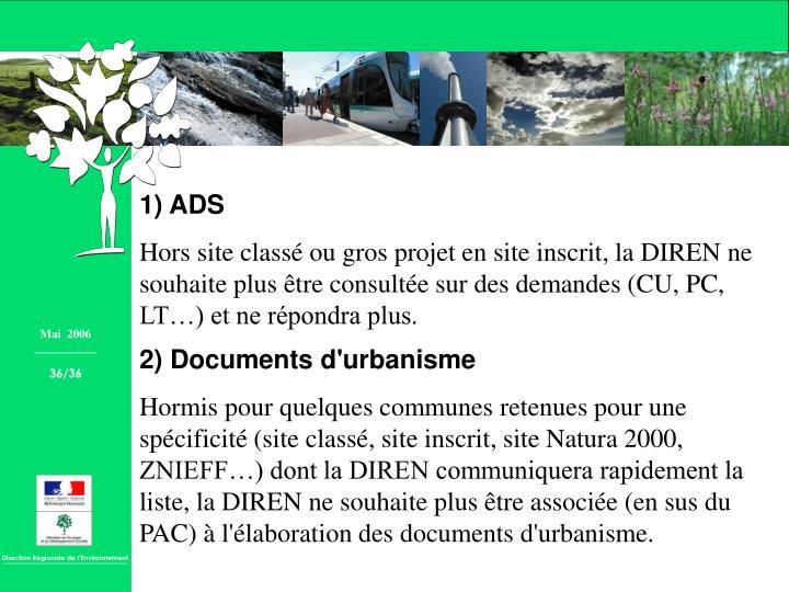 1) ADS