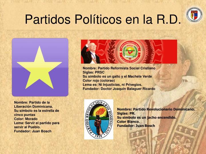 Partidos Políticos en la R.D.