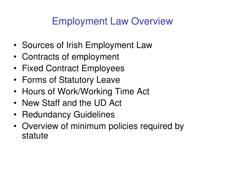 Employment law overview