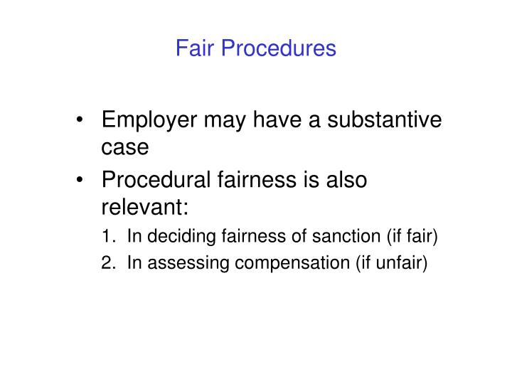 Fair Procedures