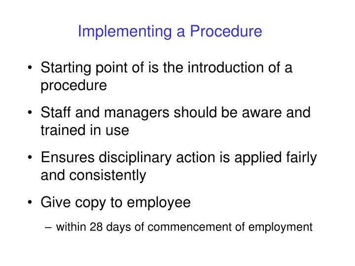 Implementing a Procedure