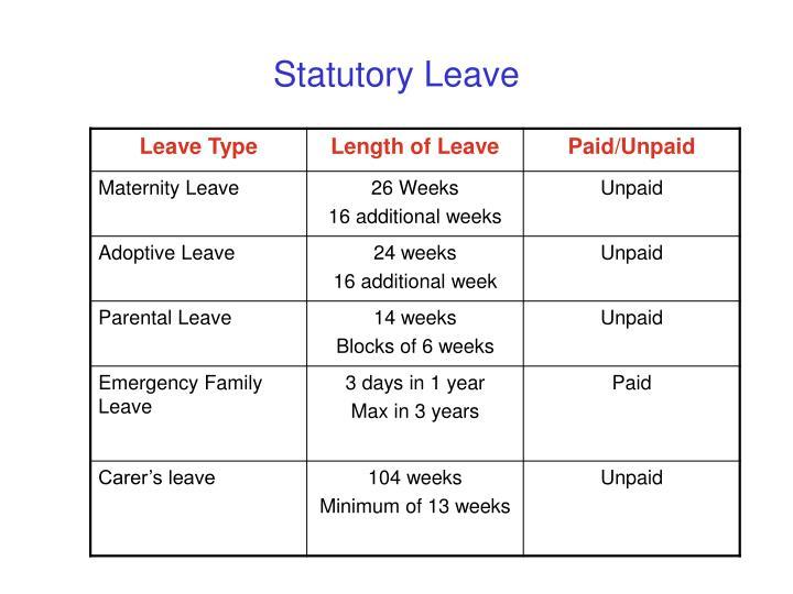 Statutory Leave