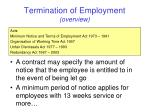 termination of employment overview