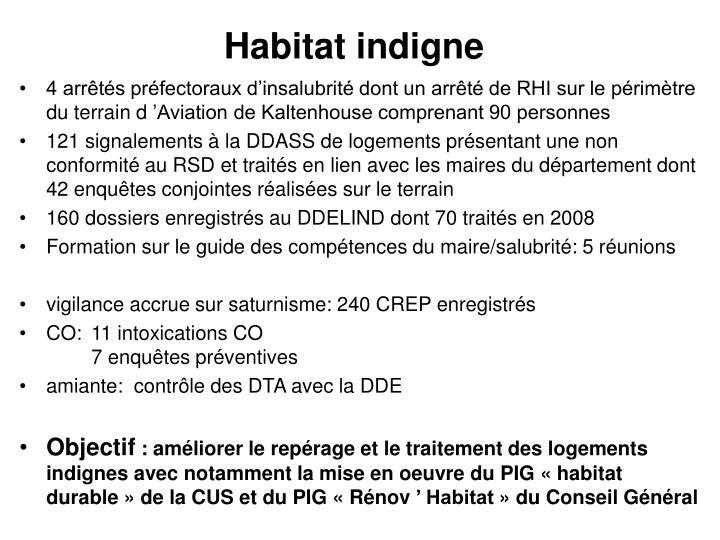 Habitat indigne
