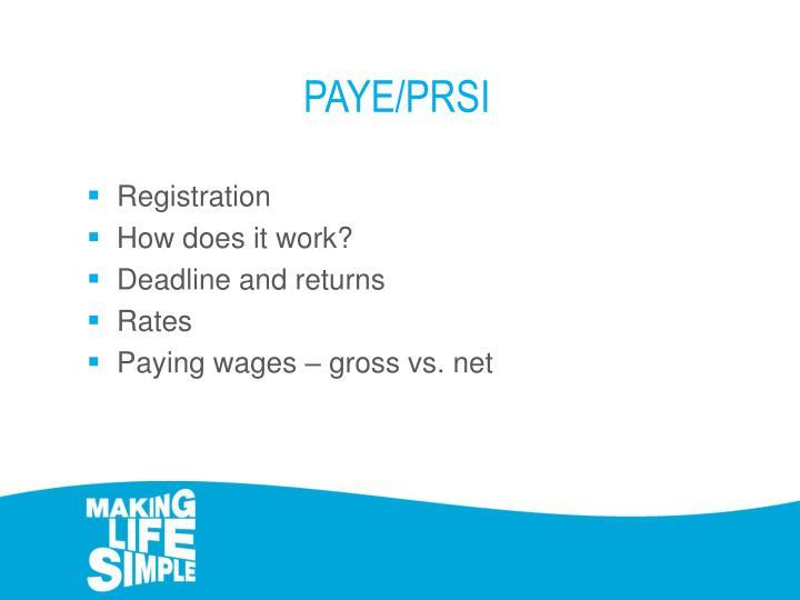 PAYE/PRSI