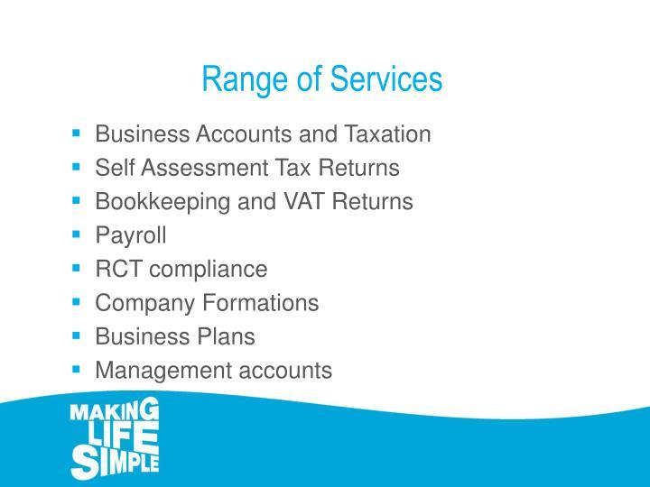 Range of Services