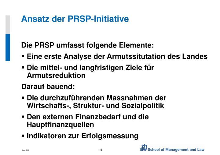 Ansatz der PRSP-Initiative