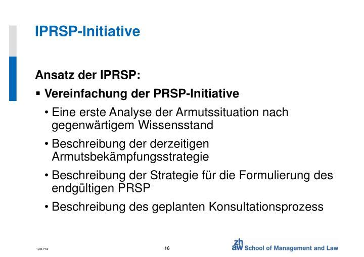 IPRSP-Initiative