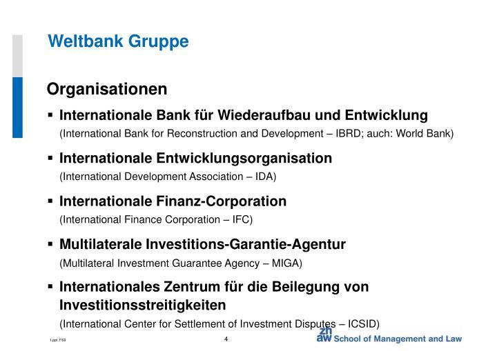 Weltbank Gruppe