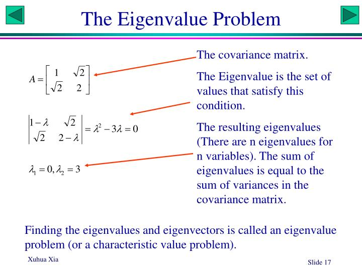 The Eigenvalue Problem