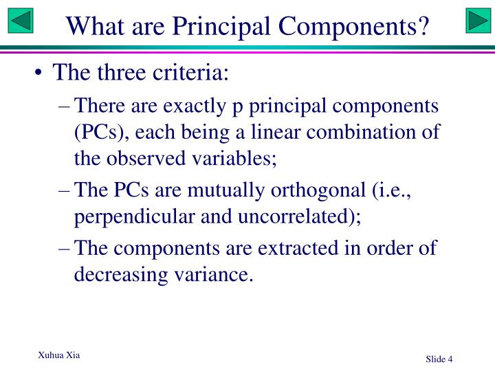 What are Principal Components?