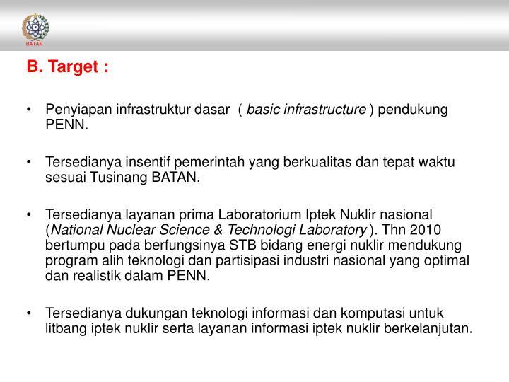 B. Target :