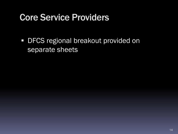 Core Service Providers