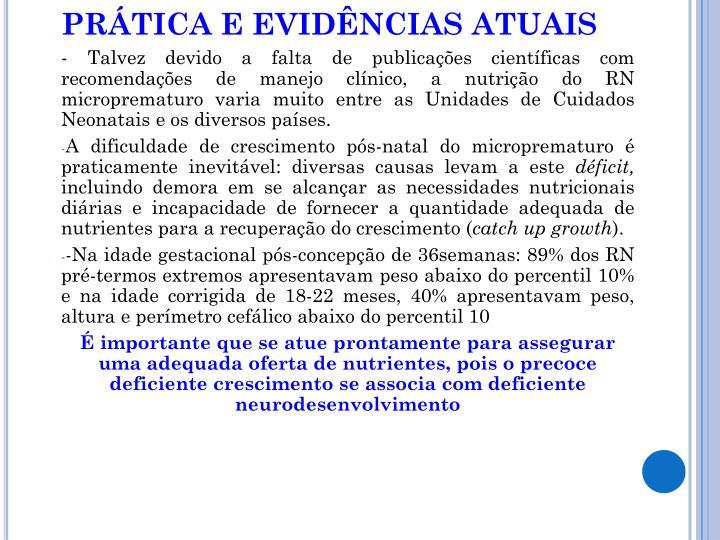 PRÁTICA E EVIDÊNCIAS ATUAIS