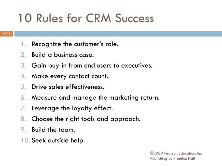 10 Rules for CRM Success