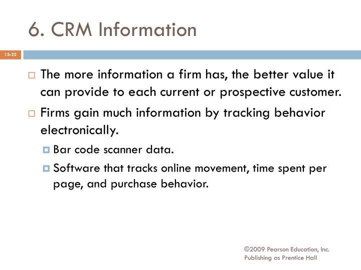 6. CRM Information