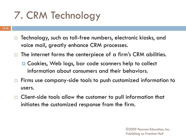 7. CRM Technology