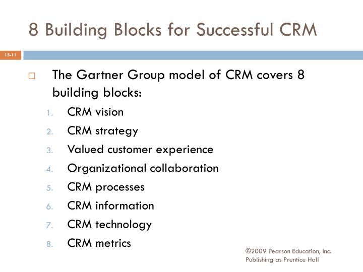 8 Building Blocks for Successful CRM