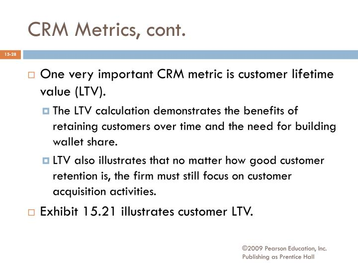 CRM Metrics, cont.