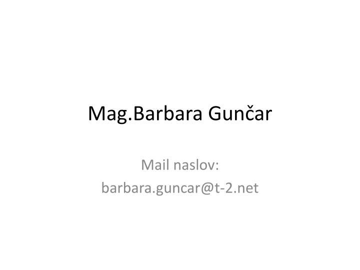 Mag.Barbara
