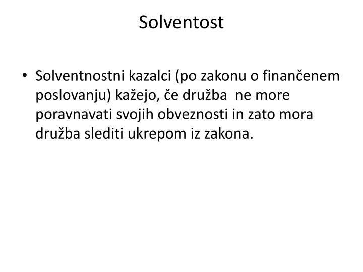 Solventost