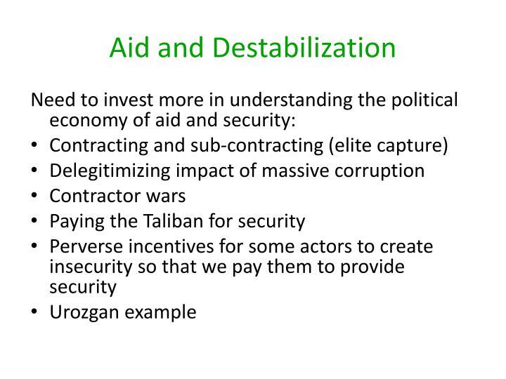 Aid and Destabilization