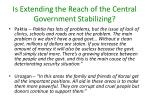 is extending the reach of the central government stabilizing