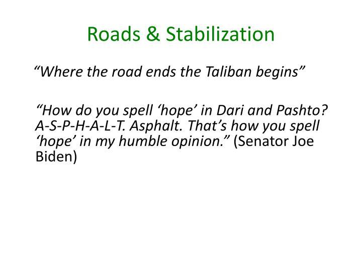 Roads & Stabilization