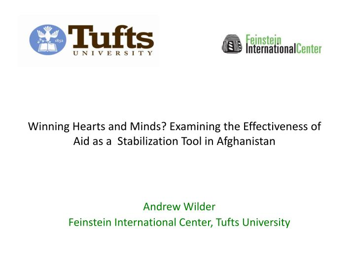 winning hearts and minds examining the effectiveness of aid as a stabilization tool in afghanistan