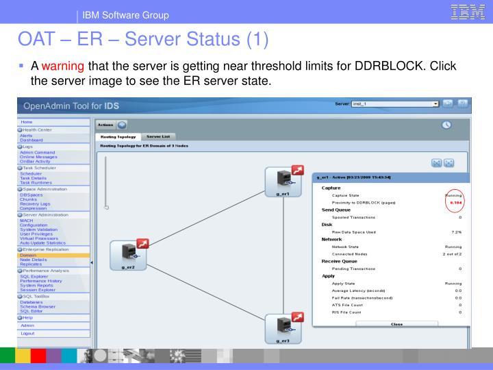 OAT – ER – Server Status (1)