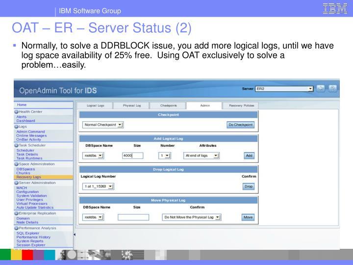 OAT – ER – Server Status (2)