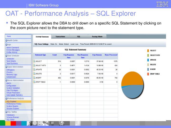 OAT - Performance Analysis – SQL Explorer