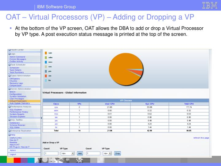 OAT – Virtual Processors (VP) – Adding or Dropping a VP