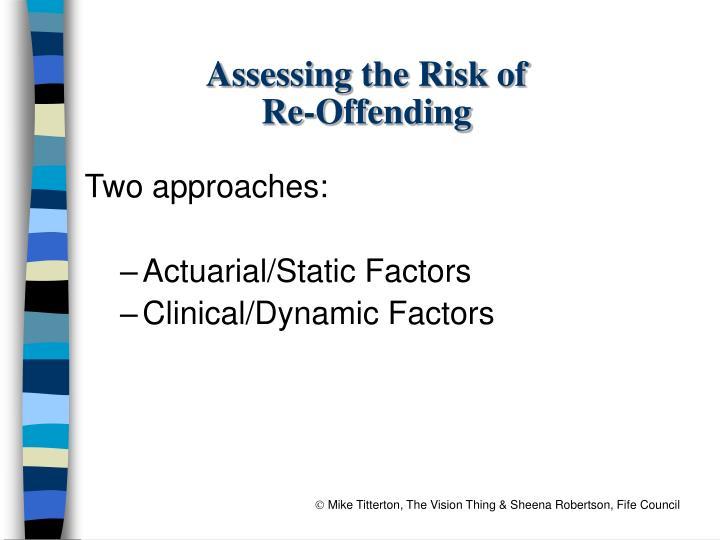 Assessing the Risk of