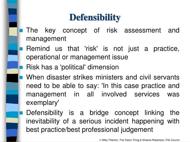 Defensibility