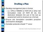 drafting a plan