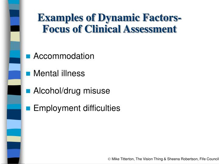 Examples of Dynamic Factors-