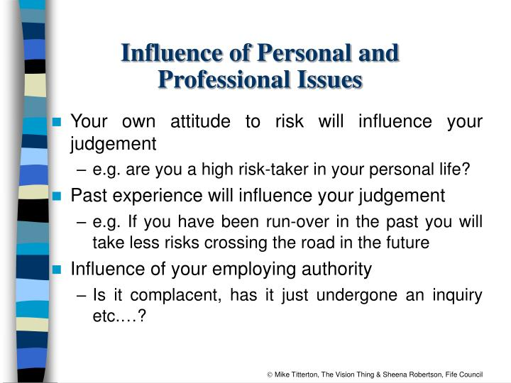 Influence of Personal and