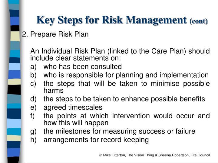 Key Steps for Risk Management