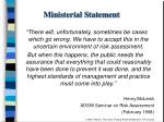 ministerial statement