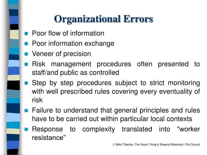 Organizational Errors