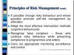 principles of risk management cont
