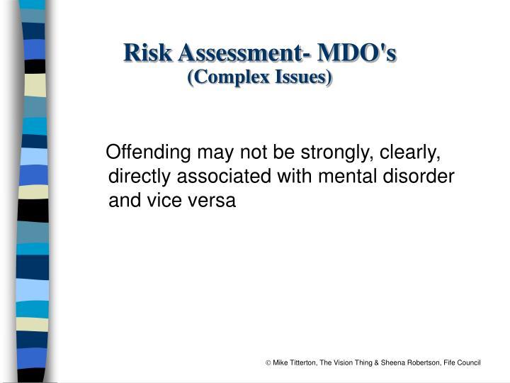 Risk Assessment- MDO's