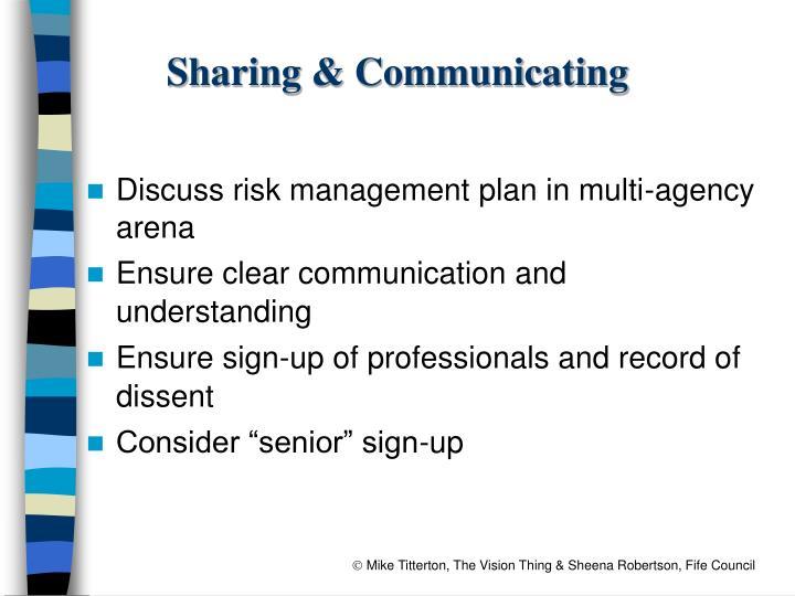 Sharing & Communicating