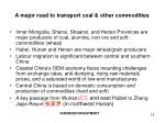 a major road to transport coal other commodities