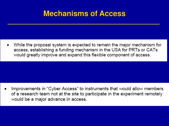 Mechanisms of Access