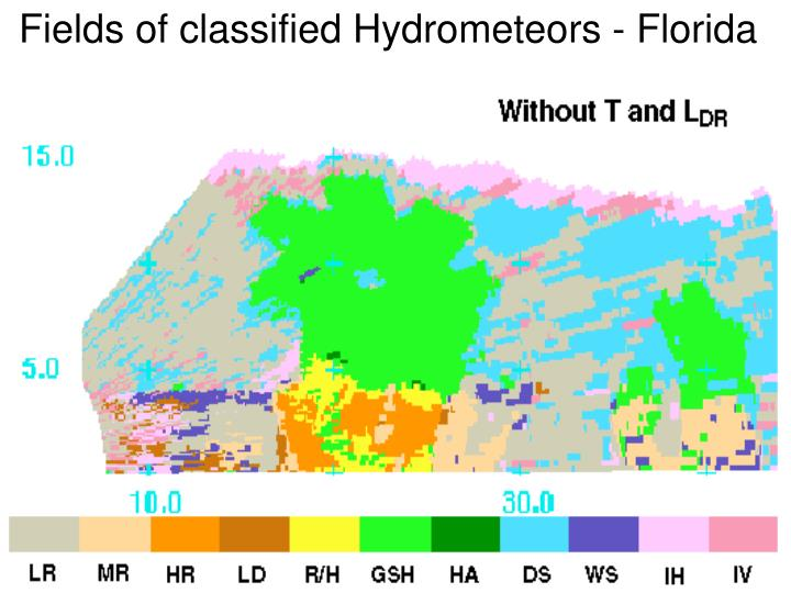 Fields of classified Hydrometeors - Florida