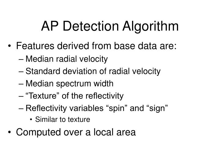 AP Detection Algorithm