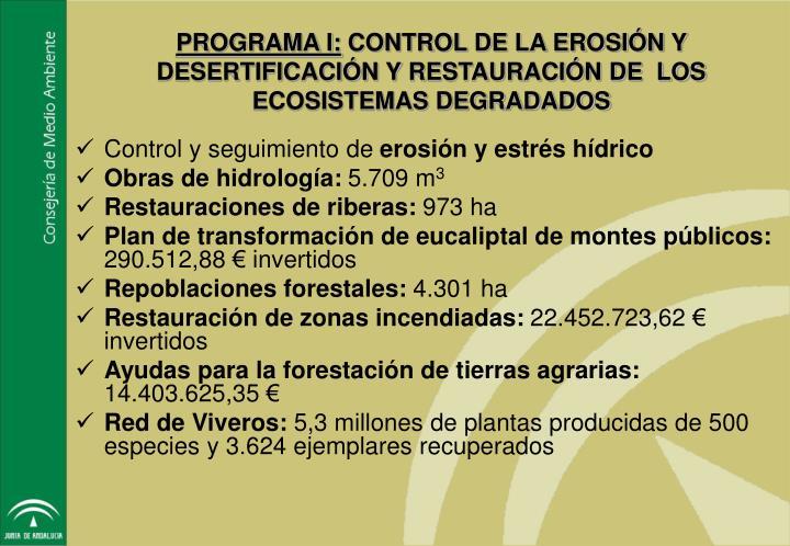PROGRAMA I: