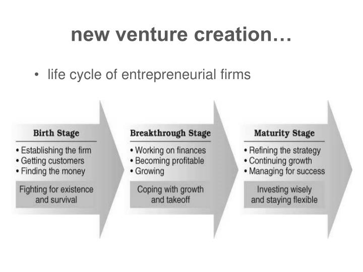 new venture creation…
